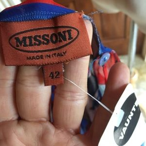Missoni Tops - Missoni orange label sheer strappy top size 42